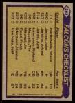 1979 Topps #263   Falcons Leaders Checklist Back Thumbnail