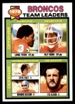 1979 Topps #507   Broncos Leaders Checklist Front Thumbnail