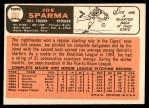1966 Topps #267  Joe Sparma  Back Thumbnail
