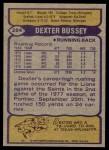 1979 Topps #284  Dexter Bussey  Back Thumbnail