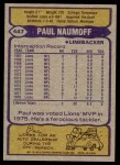 1979 Topps #447  Paul Naumoff  Back Thumbnail