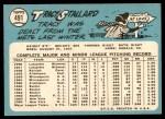 1965 Topps #491  Tracy Stallard  Back Thumbnail