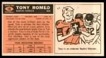 1965 Topps #18  Tony Romeo  Back Thumbnail