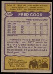 1979 Topps #502  Fred Cook  Back Thumbnail