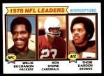 1979 Topps #5   -  Willie Buchanon / Ken Stone / Thom Darden Interception Leaders Front Thumbnail