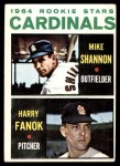 1964 Topps #262   -  Mike Shannon / Harry Fanok Cardinals Rookies Front Thumbnail
