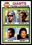 1979 Topps #188   Giants Leaders Checklist Front Thumbnail