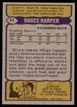 1979 Topps #82  Bruce Harper  Back Thumbnail