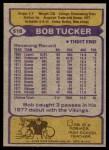 1979 Topps #518  Bob Tucker  Back Thumbnail