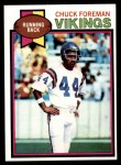 1979 Topps #100  Chuck Foreman  Front Thumbnail