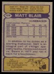 1979 Topps #125   -  Matt Blair All-Pro Back Thumbnail