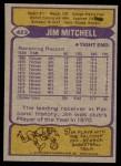 1979 Topps #423  Jim Mitchell  Back Thumbnail