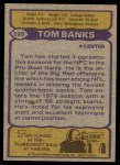 1979 Topps #295   -  Tom Banks All-Pro Back Thumbnail
