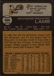1973 Topps #496  Ray Lamb  Back Thumbnail
