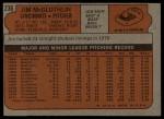 1972 Topps #236  Jim McGlothlin  Back Thumbnail