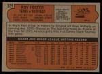 1972 Topps #329  Roy Foster  Back Thumbnail