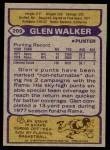 1979 Topps #209  Glen Walker  Back Thumbnail