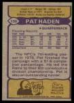 1979 Topps #130  Pat Haden  Back Thumbnail
