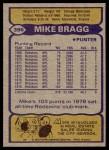 1979 Topps #396  Mike Bragg  Back Thumbnail