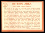 1964 Topps #162   -  Vada Pinson / Dick Sisler Hitting Area Back Thumbnail