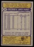 1979 Topps #58  Bobby Bryant  Back Thumbnail