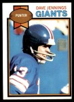 1979 Topps #25  Dave Jennings  Front Thumbnail