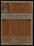 1978 Topps #102  Norm Van Lier  Back Thumbnail