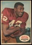 1968 Topps Poster Inserts #5  Charley Taylor  Front Thumbnail