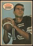 1968 Topps Poster #9  Gary Cuozzo  Front Thumbnail