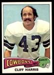 1975 Topps #490  Cliff Harris  Front Thumbnail