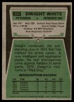1975 Topps #235  Dwight White  Back Thumbnail