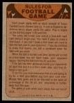1974 Topps  Checklist   Bills Back Thumbnail