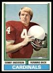 1974 Topps #155  Donny Anderson  Front Thumbnail