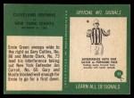 1966 Philadelphia #52   -  Ernie Green / Gary Collins Cleveland Browns Back Thumbnail