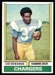 1974 Topps #176  Cid Edwards  Front Thumbnail