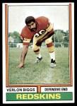 1974 Topps #208  Verlon Biggs  Front Thumbnail