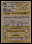 1974 Topps #258  Tom Blanchard  Back Thumbnail