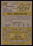 1974 Topps #186  Nick Mike-Mayer  Back Thumbnail