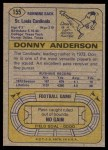 1974 Topps #155  Donny Anderson  Back Thumbnail
