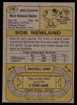 1974 Topps #179  Bob Newland  Back Thumbnail