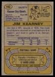 1974 Topps #193  Jim Kearney  Back Thumbnail