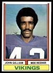 1974 Topps #240  John Gilliam  Front Thumbnail