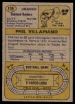 1974 Topps #139   -  Phil Villapiano  All-Pro Back Thumbnail