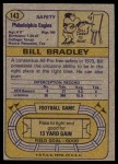1974 Topps #143   -  Bill Bradley All-Pro Back Thumbnail