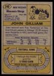 1974 Topps #240  John Gilliam  Back Thumbnail
