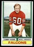 1974 Topps #160  Tommy Nobis  Front Thumbnail