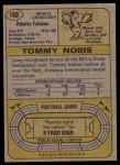1974 Topps #160  Tommy Nobis  Back Thumbnail