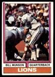 1974 Topps #173  Bill Munson  Front Thumbnail