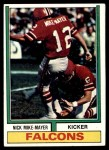 1974 Topps #186  Nick Mike-Mayer  Front Thumbnail