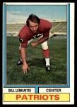 1974 Topps #196  Bill Lenkaitis  Front Thumbnail